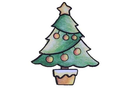 简笔画中级篇 圣诞树