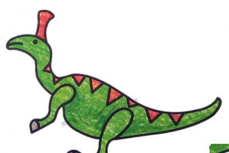 幼儿学画盔龙