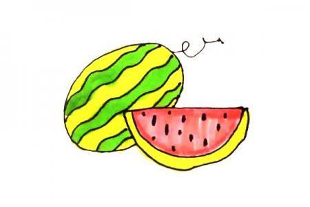 儿童轻松学画西瓜