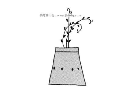四张漂亮的盆栽简笔画图片