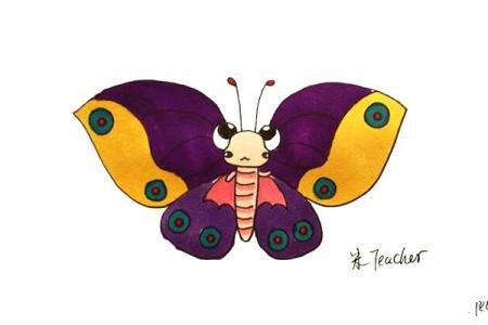 花蝴蝶怎么画