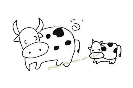 奶牛妈妈和小奶牛