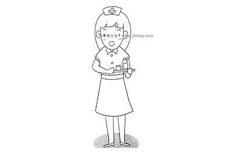 护士简笔画教程