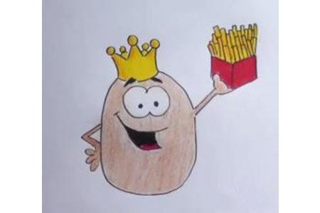 土豆先生简笔画步骤图