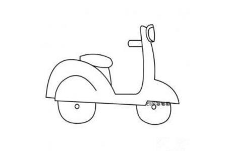 迷你摩托车简笔画