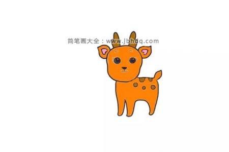 画一只可爱的梅花鹿