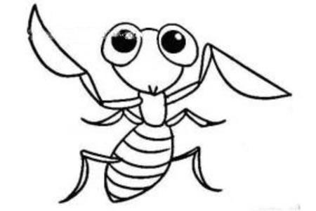 卡通螳螂简笔画图片