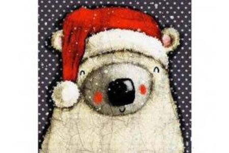 国外儿童画作品-萌哒哒的北极熊