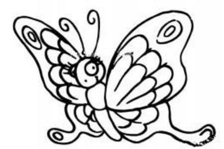 卡通蝴蝶简笔画图片