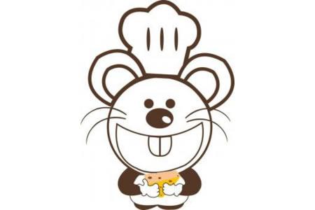 卡通彩色老鼠简笔画图片