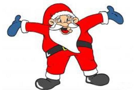 张开手的圣诞老人
