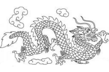 龙的简笔画 中国龙简笔画的画法