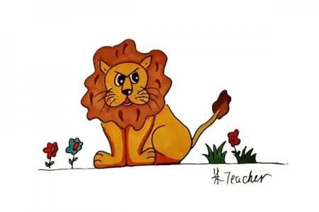 怎么画狮子