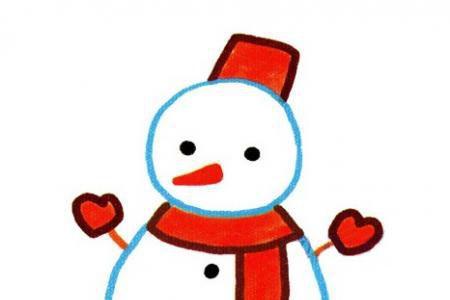 一步一步学画雪人