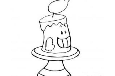 卡通哈哈大笑的蜡烛