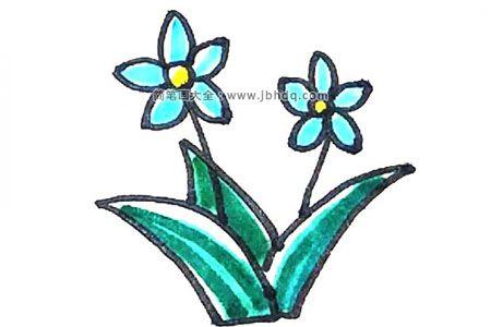 学画简单的水仙花