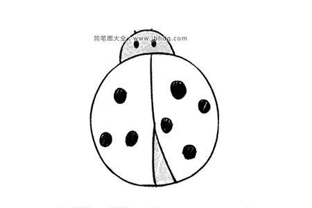 卡通瓢虫简笔画
