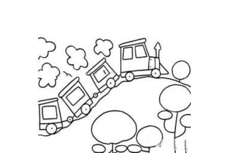 小火车幼儿简笔画图片