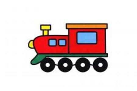 老火车简笔画图片