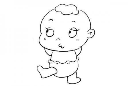 俏皮的婴儿