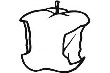 咬过的苹果怎么画