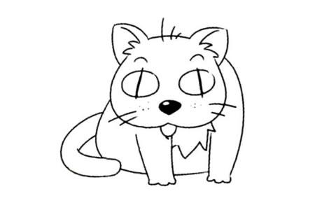 小动物的基本画法 猫的简笔画教程