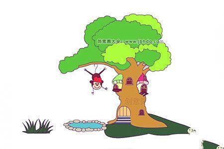 父亲节画一课大树送爸爸