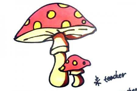 可爱蘑菇怎么画