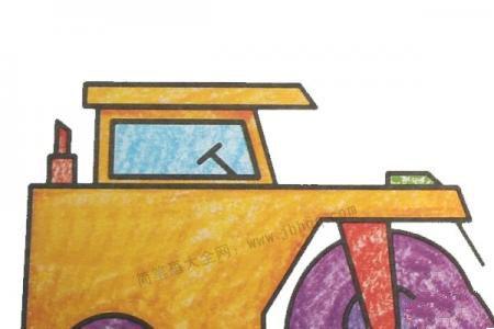 幼儿学画压路机2