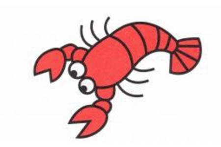 小龙虾简笔画画法
