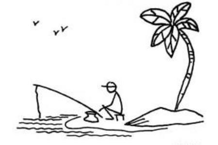 垂钓者和椰子树