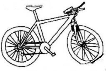 帅气的自行车简笔画