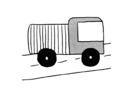 威武的卡车简笔画教程