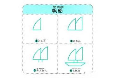幼儿简笔画教程之帆船
