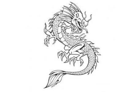 中国龙的简笔画