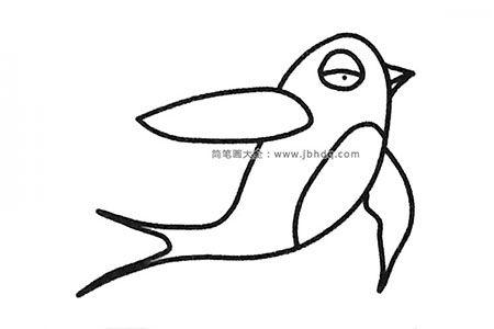 一组可爱的燕子简笔画图片