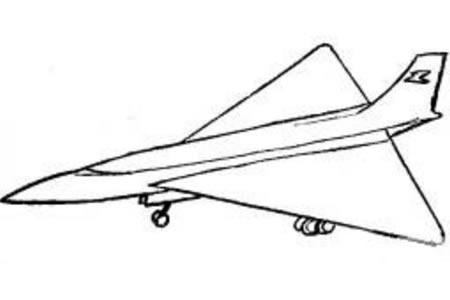 喷气式战斗机简笔画