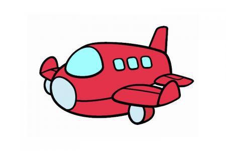可爱的卡通小飞机