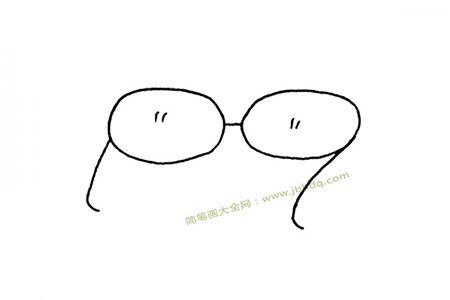简单的眼镜简笔画图片