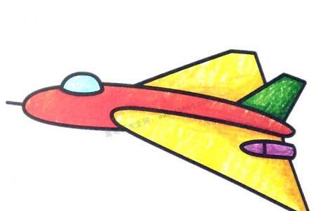 战斗机简笔画画法