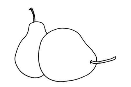 一组梨的简笔画图片大全