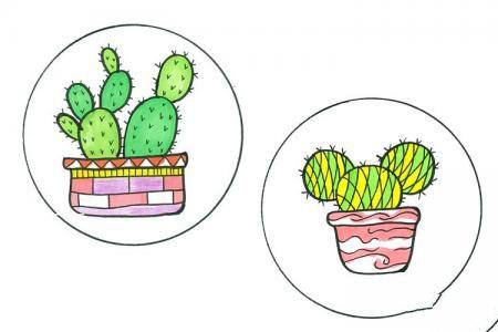 小盆栽手绘简笔画