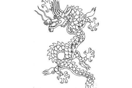 东亚传说里龙的简笔画