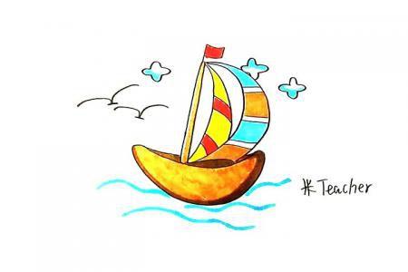 帆船怎么画