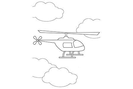 天空中的直升飞机