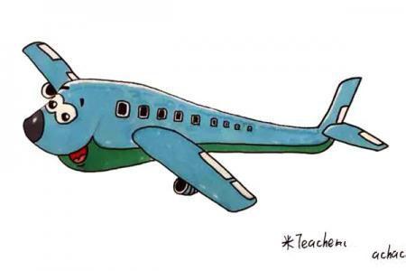 卡通飞机简笔画教程