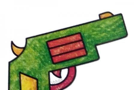 玩具手枪简笔画图片