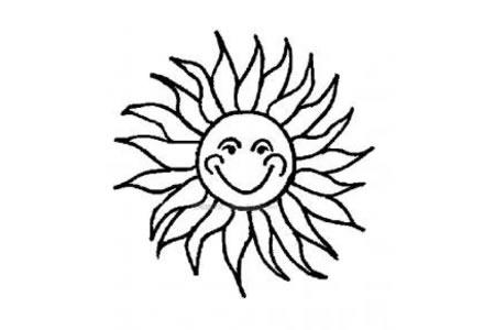 太阳的卡通简笔画