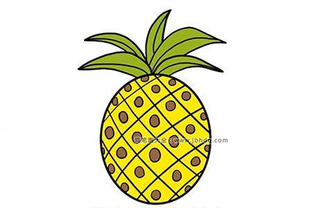 儿童学画简笔画 菠萝