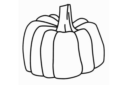 简单的南瓜怎么画